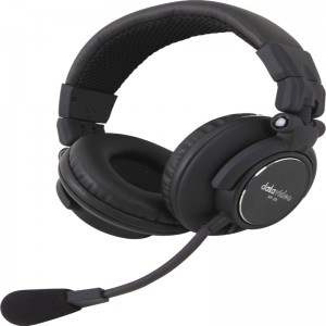 Datavideo HP-2A Two Ear Headphone with mic. - Headset