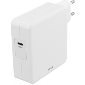 Deltaco-of Notebook Charger, 87w, Fast Charge, Usb-c Pd White - Oplader