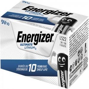 Energizer Ultimate Lithium 9V B2B 10 pack - Batteri
