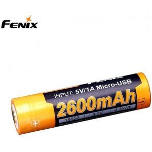 Fenix Batteries 18650 2600 Mah Usb - Batteri