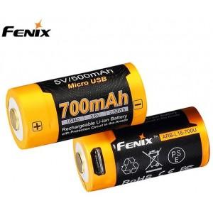 Fenix Batteries Cr123 700 Mah Usb - Batteri