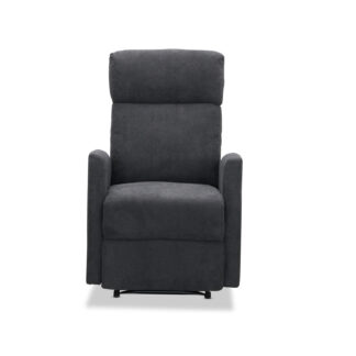 HAGA Bern recliner lænestol - grå polyester og plastik