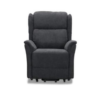 HAGA Kalmar recliner lænestol, m. 2 motorer, løftestol - grå polyester og hjul