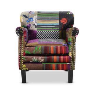 HAGA Leeds lænestol - multifarvet polyester og træ
