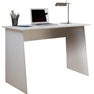 Masola Maxi skrivebord - hvid træ (110x50)