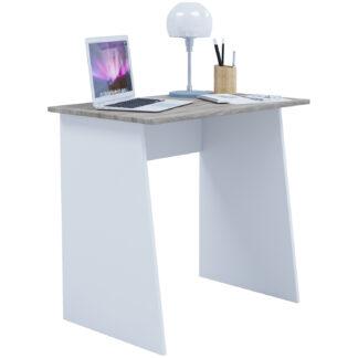 Masola Mini skrivebord - hvid og natur træ (80x50)