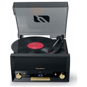 Muse Mt-112 W Turntable Micro System Fm Bt Cd Usb Retro - Pladespiller