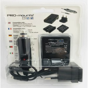 PRO-mounts Battery/Charger Kit Hero 5, 6 & 7 - Oplader