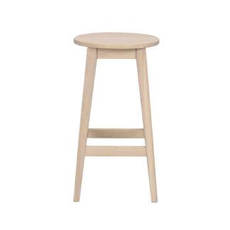 ROWICO Austin barstol, m. fodstøtte - hvidpigmenteret egetræ