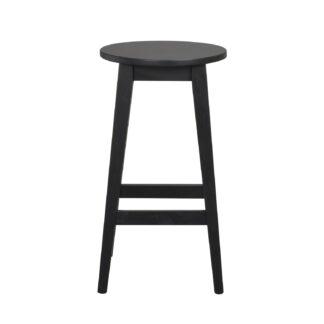 ROWICO Austin barstol, m. fodstøtte - sort egetræ