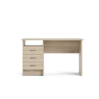 TVILUM Function Plus skrivebord - egetræsstruktur, m. 3 skuffer