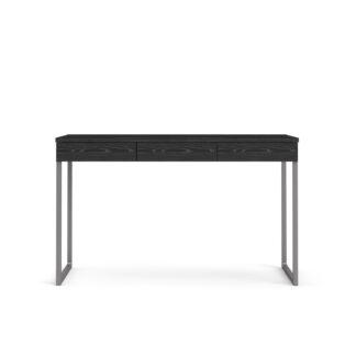 TVILUM Function Plus skrivebord - sort ask, m. 3 skuffer