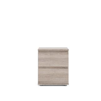 TVILUM Nova natbord - Trøffel/Naturfarvet komposittræ, 2 skuffer, (48x34)
