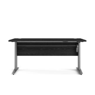 TVILUM Prima hæve sænkebord - sort/sølvgrå ask/stål, rektangulær (150x80)