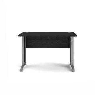 TVILUM Prima skrivebord - sort askefinér, 80x120