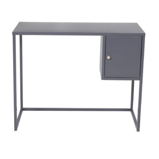VENTURE DESIGN Bakal skrivebord, m. 1 låge - lysegrå stol (95x45)